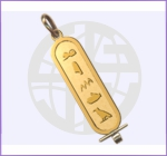 Gold Single Sided Cartouche