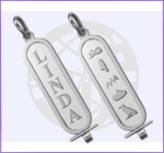 Silver Double Sided Cartouche